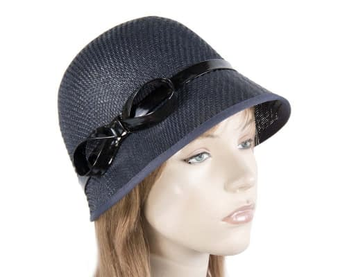 Navy cloche hat MA555N Fascinators.com.au