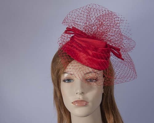 Red cocktail hats K4801R Fascinators.com.au