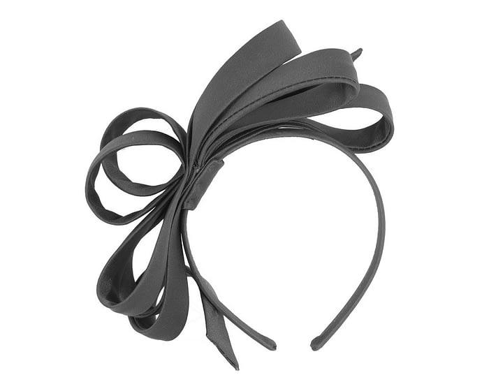 Black bow racing fascinator Fascinators.com.au
