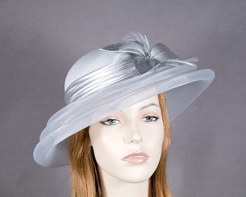 Silver custom made mother of the bride hat Fascinators.com.au