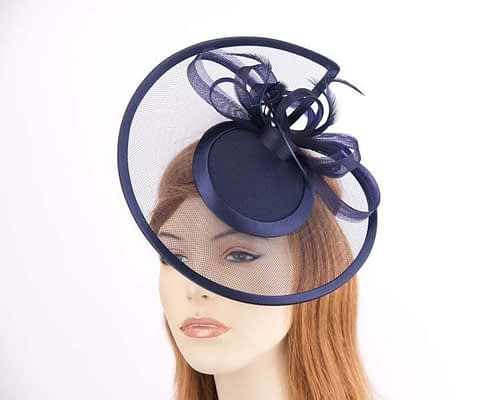 Navy cocktail hats K4806N Fascinators.com.au