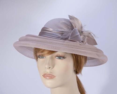 Taupe fashion hat H5002T Fascinators.com.au