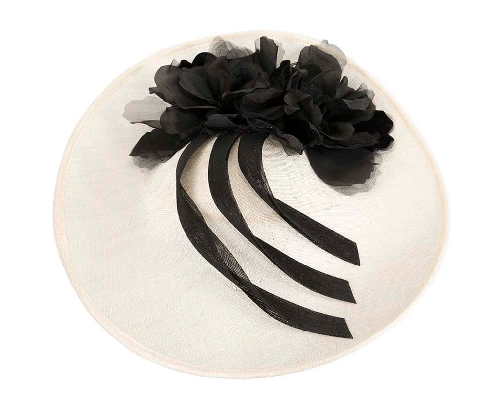 Wholesale Black Feather & Flower Fascinator on Comb