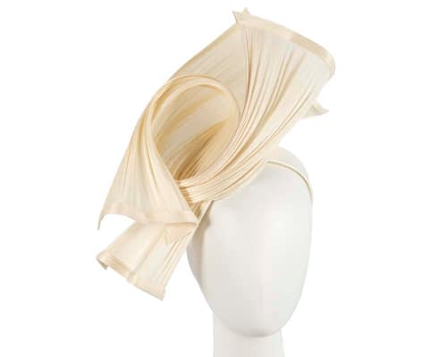 Bespoke cream jinsin waves racing fascinator by Fillies Collection Fascinators.com.au