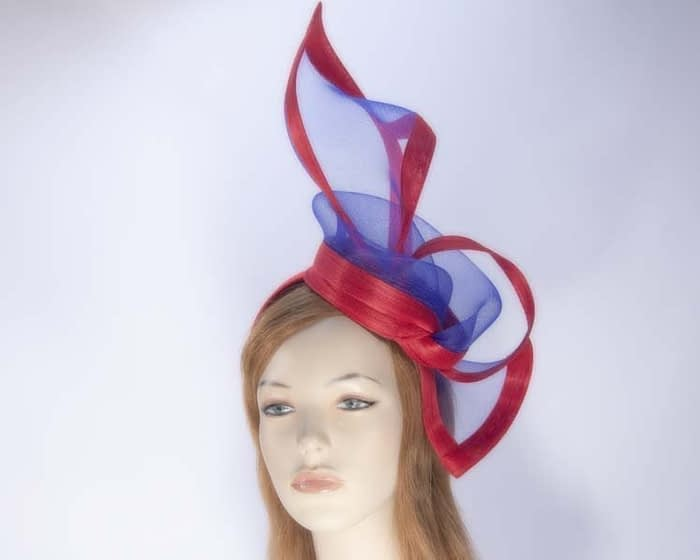 Blue red fascinator S107BLR Fascinators.com.au