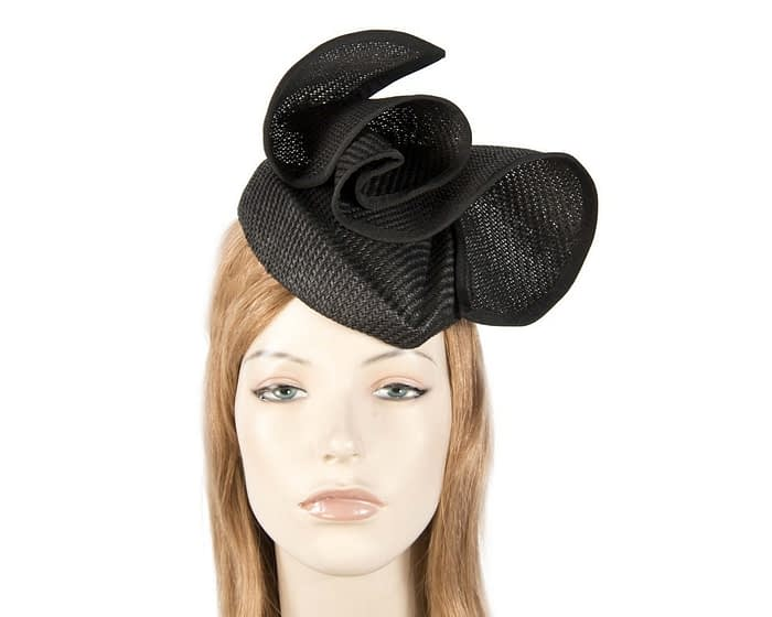 Black stewardess pillbox fascinator hat Fascinators.com.au