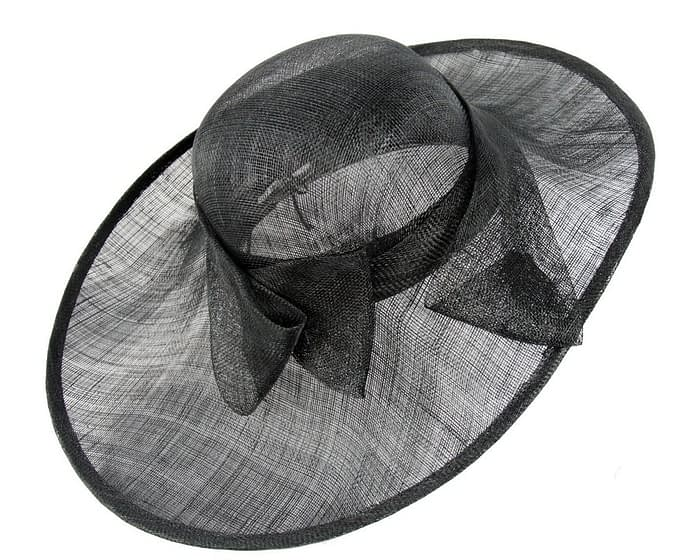 Large black ladies hat Fascinators.com.au