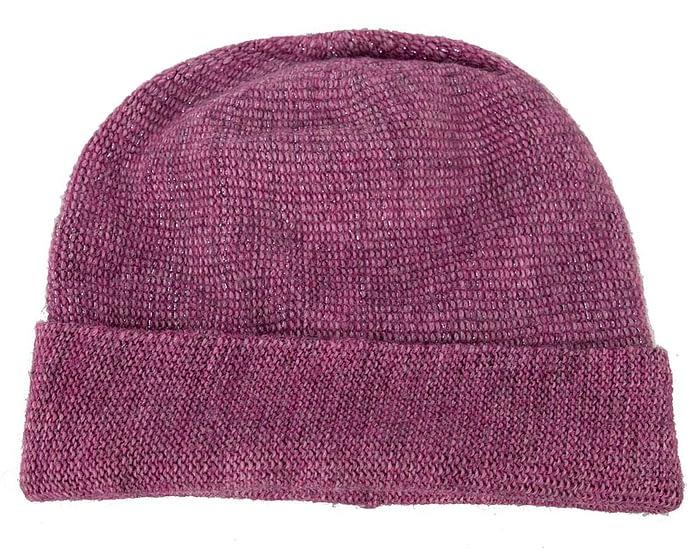 Purple warm wool beanie. Made in Europe Fascinators.com.au