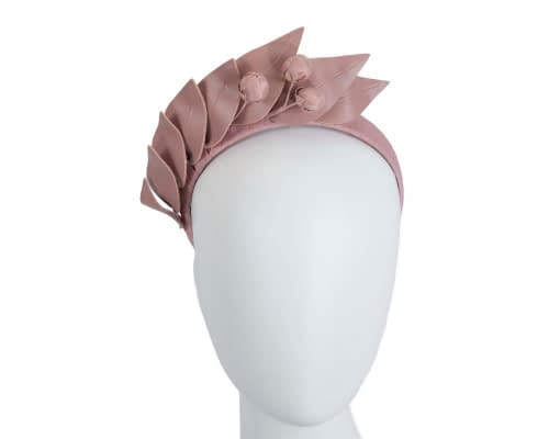 Taupe leather racing fascinator by Max Alexander Fascinators.com.au