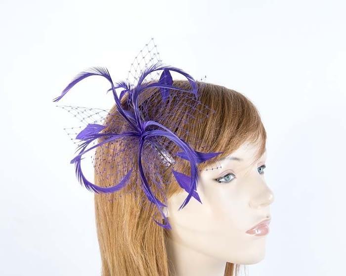 Purple fascinator 4825P Fascinators.com.au