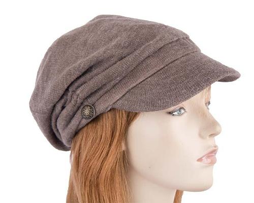 Grey beret J266G Fascinators.com.au J266 grey5