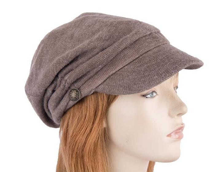 Grey beret J266G Fascinators.com.au