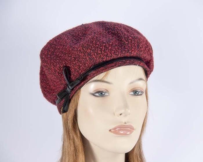 Red beret hats J250R Fascinators.com.au