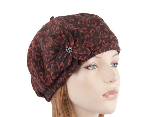 Black rust beret J253BR Fascinators.com.au