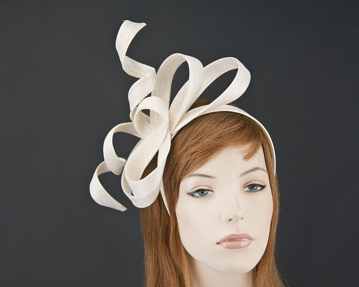 Australian made cream Fillies Collection racing fascinator for Melbourne Cup S169C Fascinators.com.au