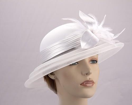 White fashion hat H5002W Fascinators.com.au