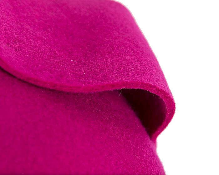 Fuchsia designer pillbox fascinator Fascinators.com.au