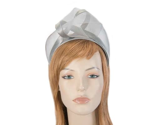 Silver turban headband by Fillies Collection Fascinators.com.au