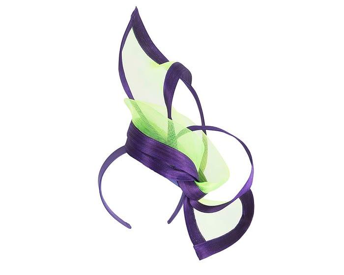 Lime purple fascinators S107LP Fascinators.com.au