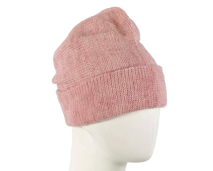 Dusty pink warm wool beanie. Made in Europe Fascinators.com.au