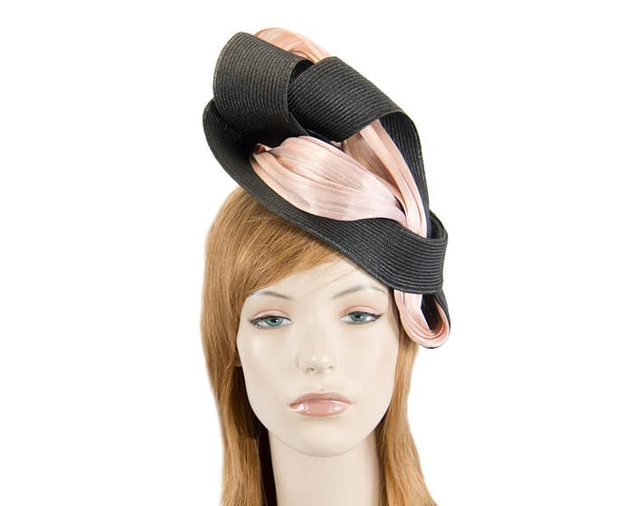 Black & blush twists Fillies Collection fascinator Fascinators.com.au
