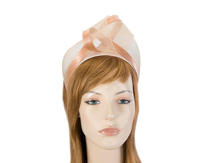 Nude turban headband by Fillies Collection Fascinators.com.au