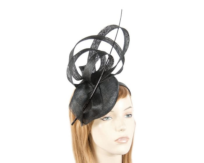 Tall black racing fascinator Fascinators.com.au