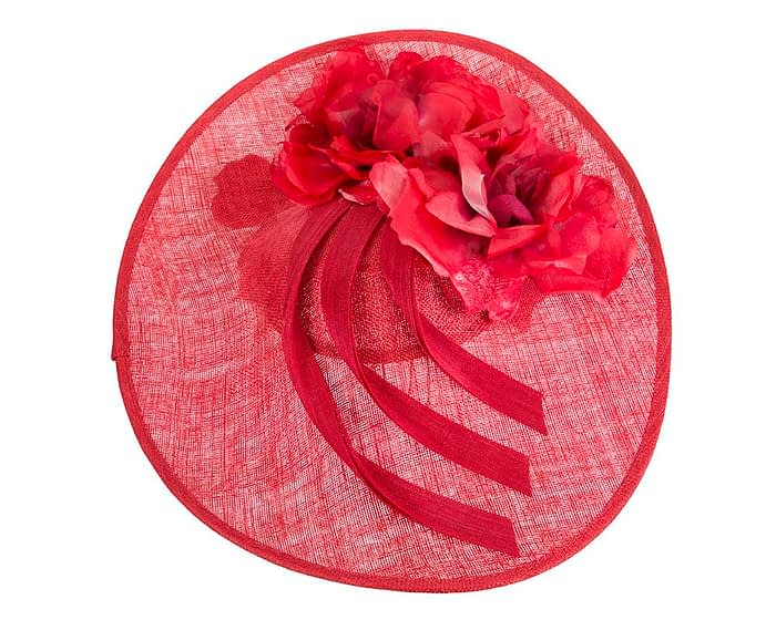 Large red racing hatinator by Fillies Collection Fascinators.com.au
