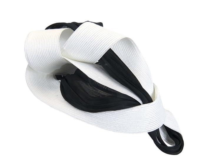 White & black twists Fillies Collection fascinator Fascinators.com.au