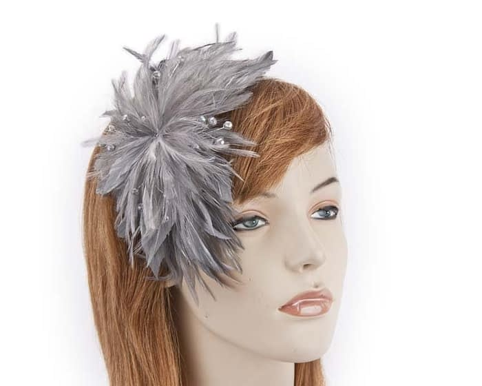 Grey fascinator 4819GR Fascinators.com.au