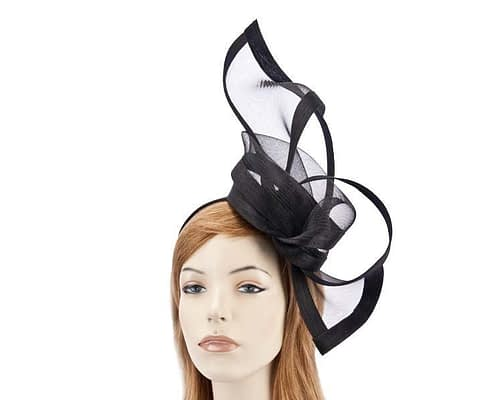 Black fascinators S107B Fascinators.com.au