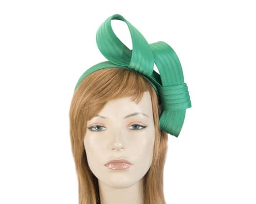 Twisted green fascinator Fascinators.com.au