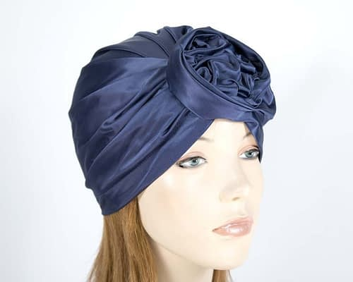 Navy fashion turban Fascinators.com.au MAT01 navy
