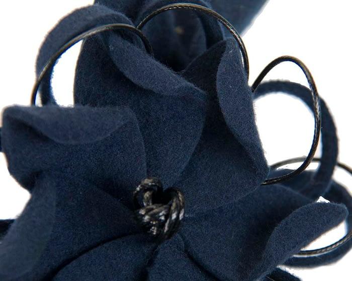 Navy felt flower fascinator headband Fascinators.com.au