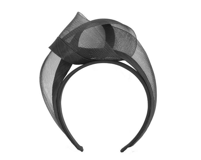 Black turban headband by Fillies Collection Fascinators.com.au