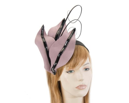 Bespoke dusty pink felt racing fascinator Fascinators.com.au
