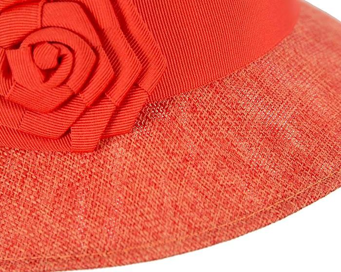 Orange spring racing cloche hat Fascinators.com.au