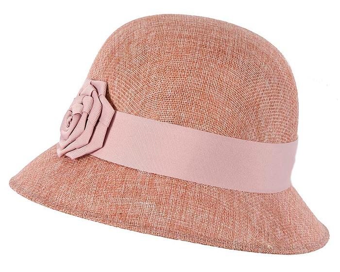 Dusty pink spring racing cloche hat by Max Alexander Fascinators.com.au