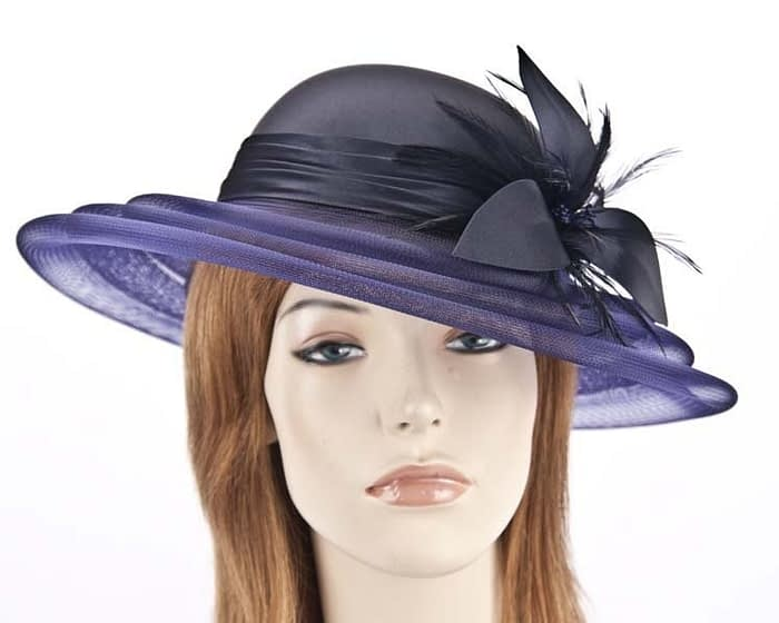 French navy fashion hat H5002FN Fascinators.com.au