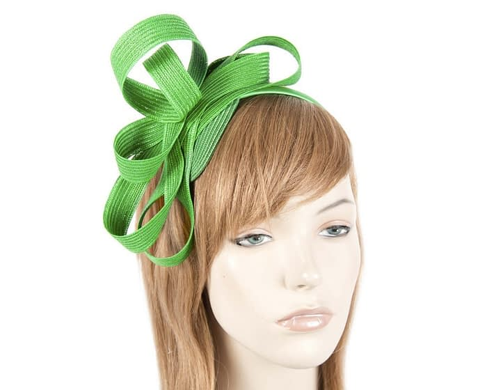 Green loops racing fascinator Fascinators.com.au