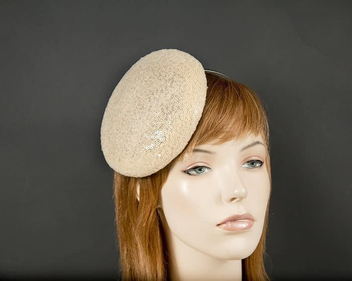 Ivory sparkling pillbox Fascinators.com.au