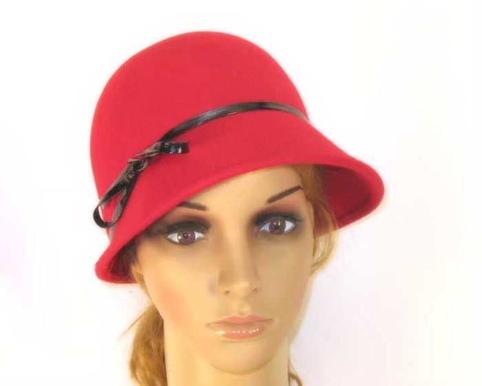 Red felt hat J265R Fascinators.com.au