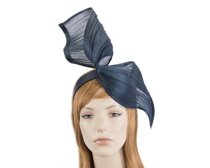 Navy jinsin wave fascinator by Fillies Collection Fascinators.com.au