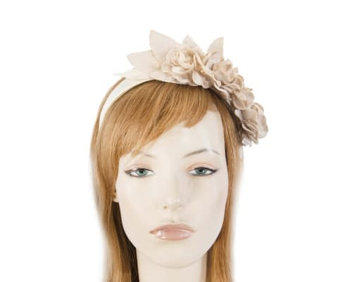 Nude flower headband fascinator Fascinators.com.au