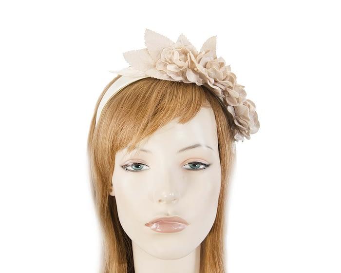 Nude flower headband fascinator Fascinators.com.au