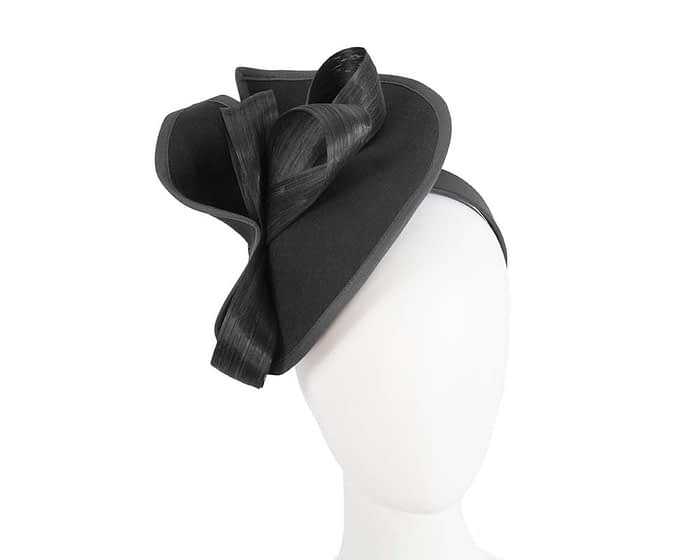 Twisted black winter fascinator by Fillies Collection Fascinators.com.au
