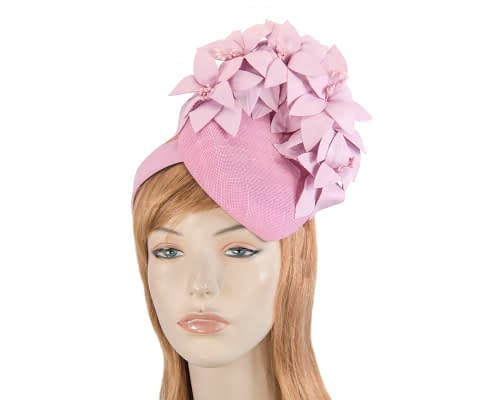 Lilac leather flowers pillbox by Fillies Collection Fascinators.com.au