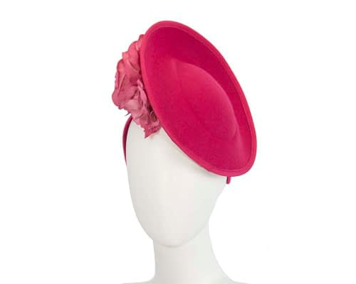 Large fuchsia fascinators with flowers by Fillies Collection Fascinators.com.au
