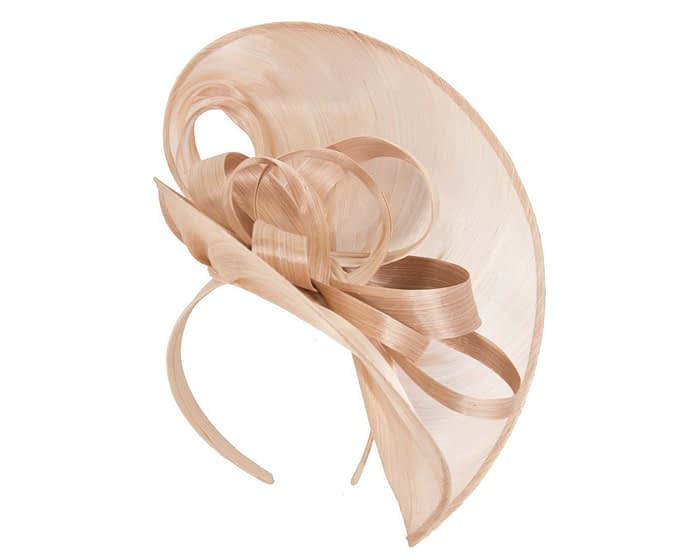 Nude heart silk abaca racing fascinator Fascinators.com.au