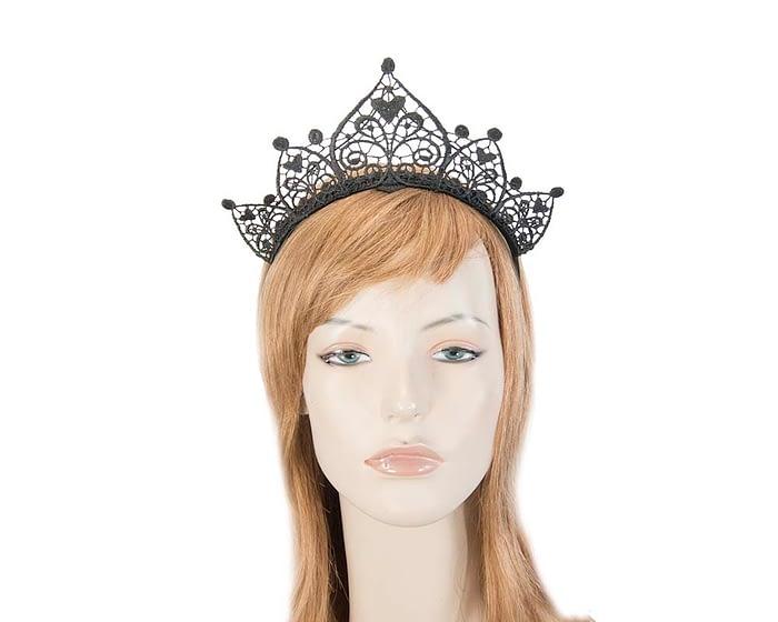 Black lace crown Fascinators.com.au